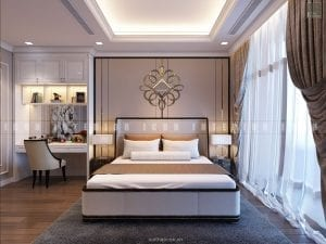 thiết kế nội thất chung cư sang trọng - phòng ngủ