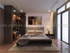 mẫu thiết kế nội thất phòng ngru master chung cư đẹp
