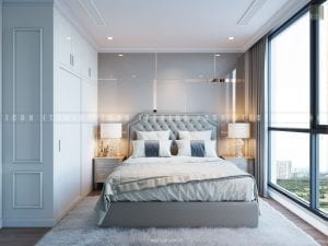 mẫu thiết kế nội thất phong ngủ chung cư đẹp