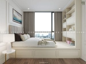 mẫu thiết kế nội thất phong ngủ nhỏ chung cư đẹp
