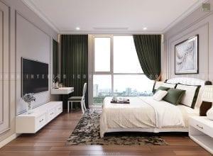 thiết kế phòng ngủ master chung cư đẹp