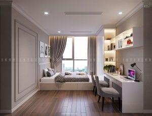 thiết kế phòng ngủ nhỏ chung cư đẹp