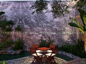 thiết kế quán coffee sân vườn