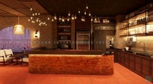 thiết kế quán coffee quầy thu ngân