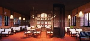 thiết kế quán coffee khu vực bàn tròn
