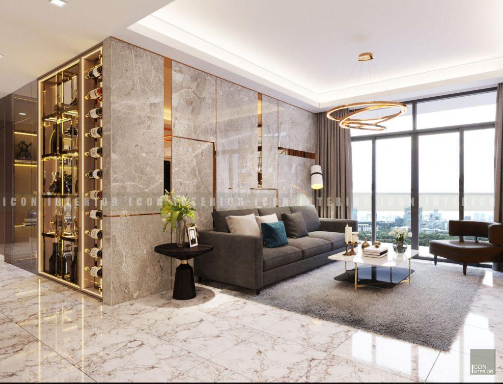 thiết kế nội thất chung cư cao cấp - phòng khách