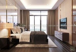 thiết kế nội thất chung cư cao cấp phòng ngủ master 1