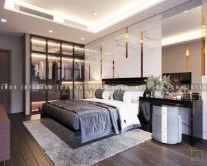 thiết kế nội thất chung cư cao cấp - phòng ngủ master