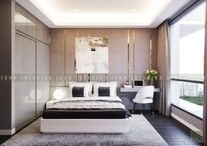 thiết kế nội thất chung cư cao cấp phòng ngủ 1