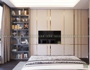 thiết kế nội thất chung cư cao cấp phòng ngủ 2