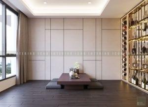thiết kế nội thất chung cư cao cấp - phòng trà