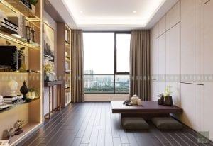 thiết kế nội thất chung cư cao cấp - phòng thư giãn