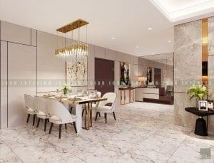 thiết kế nội thất chung cư cao cấp - phòng ăn