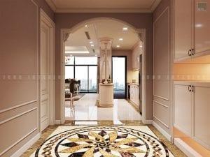 thiết kế nội thất chung cư sang trọng - tiền sảnh
