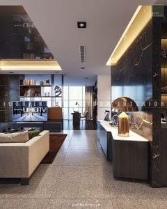 thiết kế nội thất căn hộ vinhomes golden river tiền sảnh