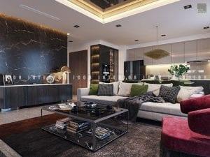nội thất căn hộ vinhomes golden river