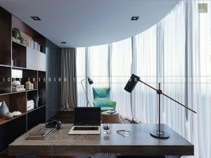 thiết kế nội thất căn hộ vinhomes golden river - phòng làm việc