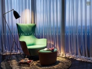 thiết kế nội thất căn hộ vinhomes golden river - ghế thư giãn