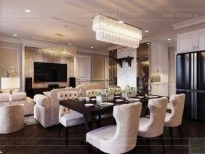 thiết kế phòng ăn căn hộ vinhomes ba son