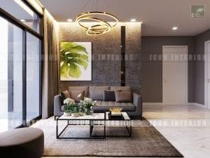nội thất phòng khách vinhomes golden river