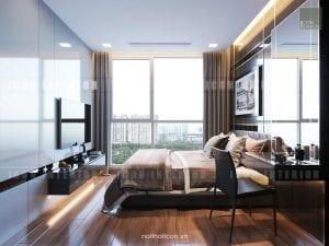 thiết kế nội thất phòng master sang trọng