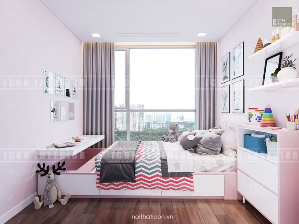 ánh sáng tự nhiên trong thiết kế nội thất phòng bé