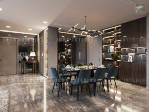 thiết kế nội thất phòng ăn sang trọng