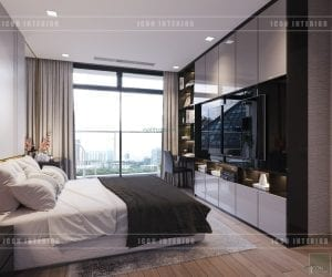 vinhomes central park 2 - phòng ngủ master