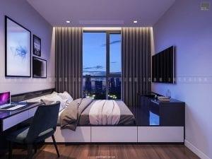 Thiết kế nội thất phòng ngủ nhỏ theo phong cách hiện đại