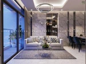 Thiết kế nội thất phòng khách theo phong cách hiện đại
