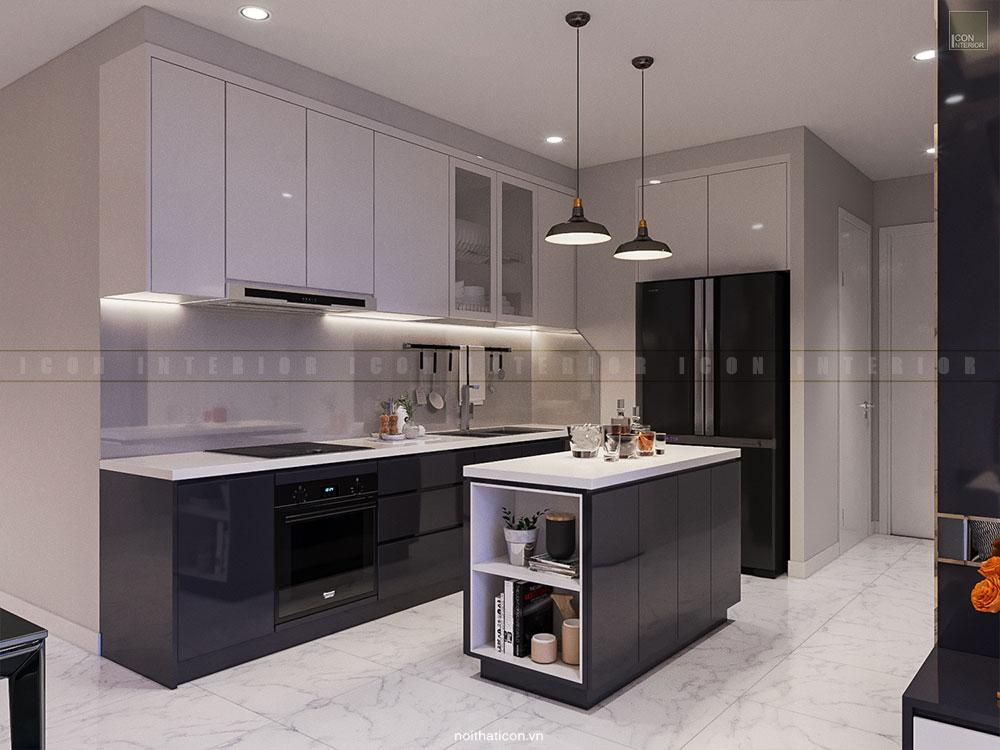 thiết kế nội thất nhà bếp theo phong cách hiện đại