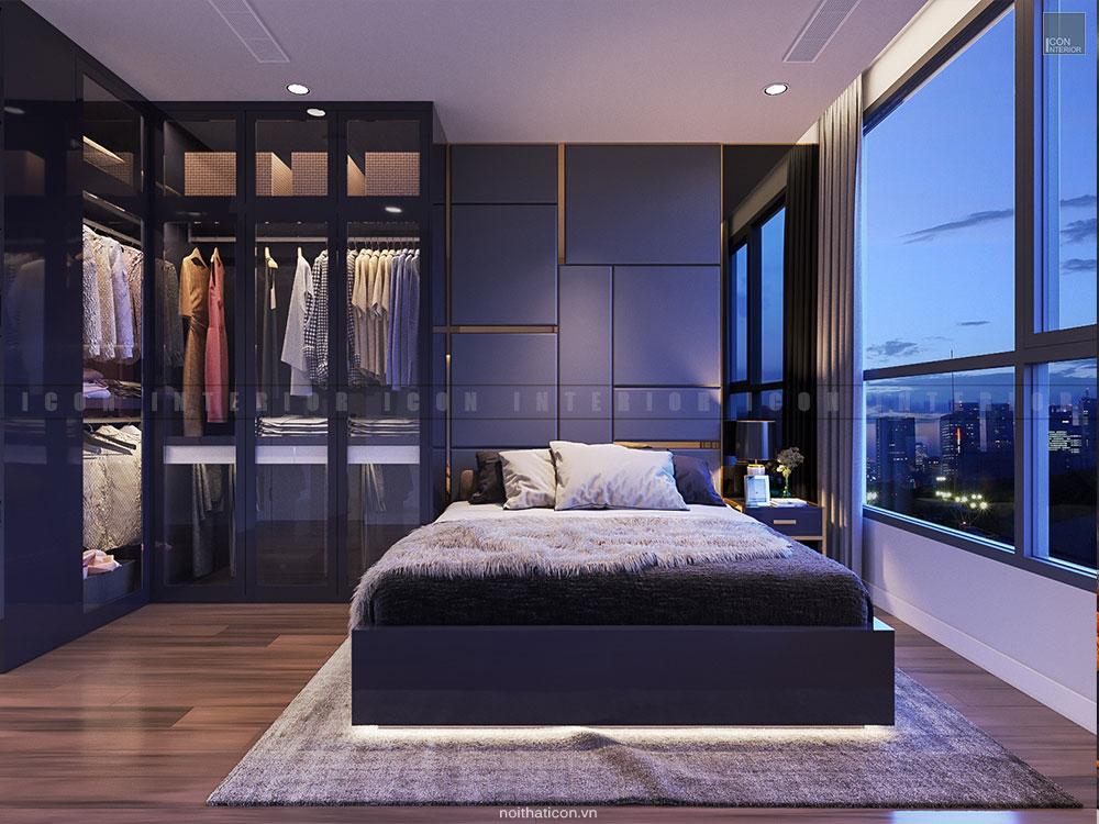 Thiết kế nội thất phòng master theo phong cách hiện đại