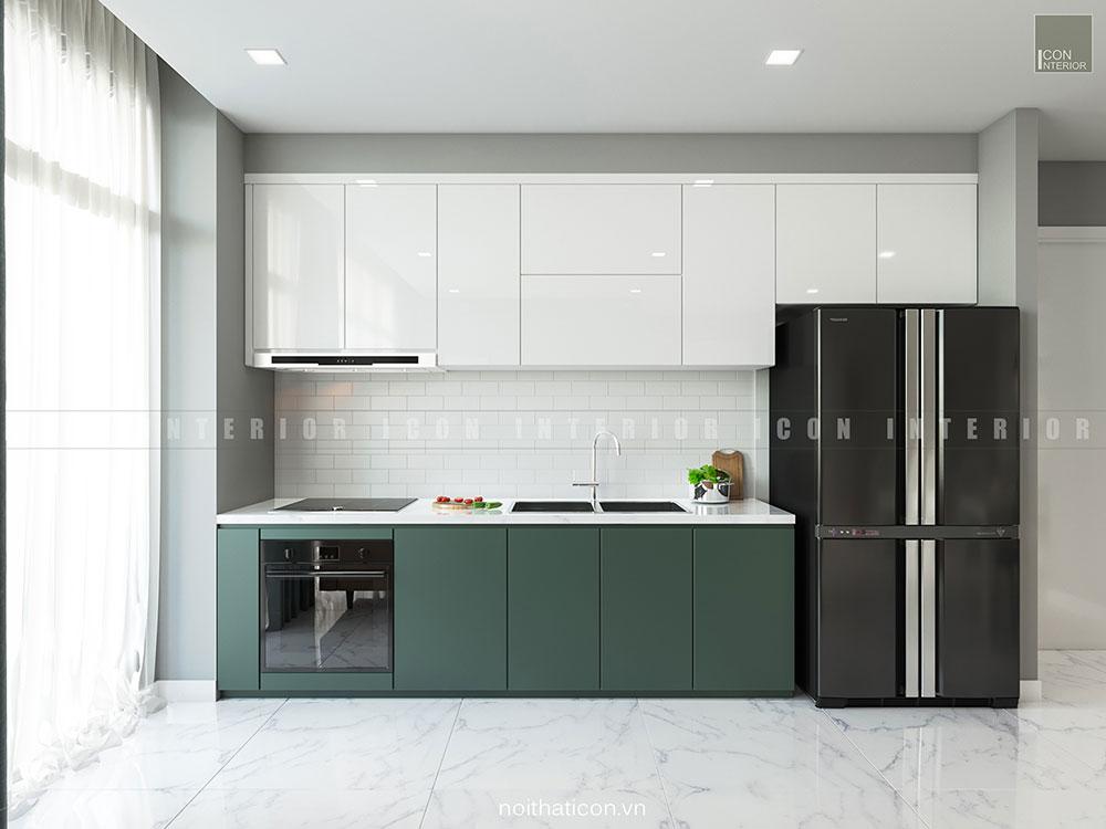 thiết kế nội thất căn hộ vinhomes ba son - nhà bếp