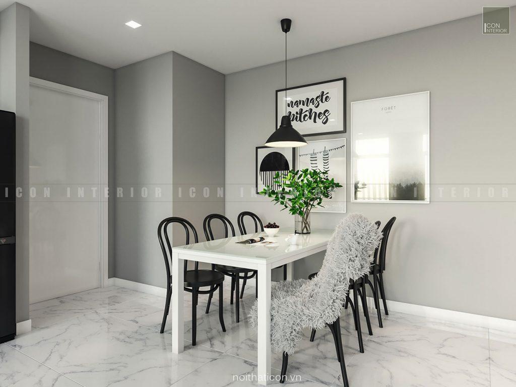 thiết kế nội thất căn hộ vinhomes ba son - phòng ăn