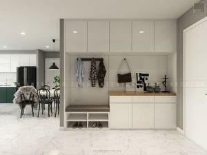 thiết kế nội thất căn hộ vinhomes ba son - tiền sảnh