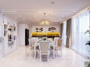 thiết kế nội thất theo phong cách tân cổ điển - phòng ăn