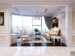 thiết kế nội thất theo phong cách tân cổ điển - phòng khách