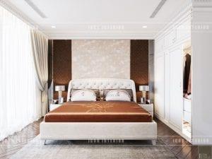 thiết kế nội thất theo phong cách tân cổ điển phòng ngủ master