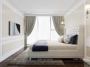 thiết kế nội thất theo phong cách tân cổ điển phòng ngủ nhỏ