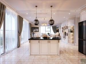 thiết kế nội thất theo phong cách tân cổ điển - đảo bếp