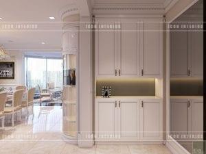 thiết kế nội thất tiền sảnh theo phong cách tân cổ điển