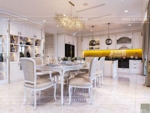 thiết kế nội thất theo phong cách tân cổ điển nhà bếp