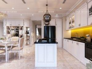 thiết kế nội thất nhà bếp theo phong cách tân cổ điển