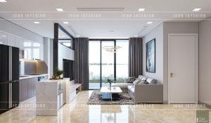 thiết kế căn hộ vinhomes golden river phòng khách