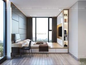 thiết kế căn hộ vinhomes golden river - phòng ngủ nhỏ