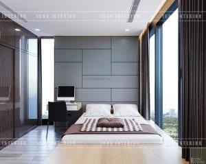 thiết kế căn hộ vinhomes golden river phòng ngủ nhỏ