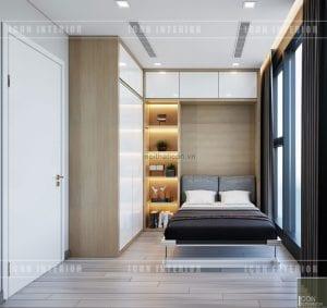 thiết kế căn hộ vinhomes golden river - giường thông minh