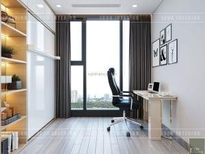 thiết kế căn hộ vinhomes golden river - phòng làm việc