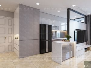 thiết kế căn hộ vinhomes golden river nhà bếp