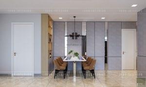 thiết kế căn hộ vinhomes golden river phòng ăn